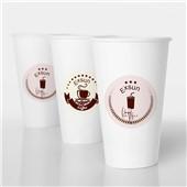 一次性纸杯制作 原木浆淋膜纸杯印刷 环保加厚广告纸杯