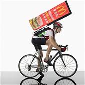 背包旗杆展架 流动广告展示神器