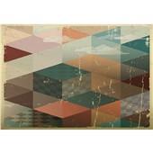 复古几何--电视背景墙壁纸简约现代客厅壁画卧室个性艺术墙布