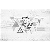 几何拼接-北欧创意几何墙纸沙发现代简约墙布客厅电视背景墙定制壁画
