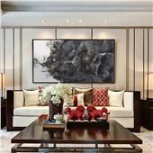 总裁官邸#ZSH-XZS-308-新中式现代水墨抽象装饰画