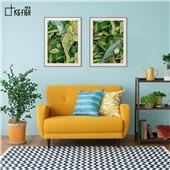 绿野仙踪A、B 热带雨林A、B 快乐鱼北欧简约装饰画绿植多联画
