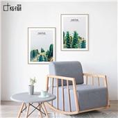 仙人掌A、B、C-现代简约时尚装饰画餐厅卧室沙发背景挂画