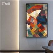像素之美--现代简约北欧美式客厅沙发背景餐厅卧室书房抽象装饰画