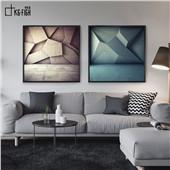 幾何主義-現代簡約幾何客廳沙發背景餐廳墻面裝飾畫