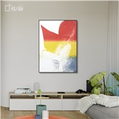 奔放色彩-快乐鱼现代简约抽象装饰画客厅餐厅卧室玄关