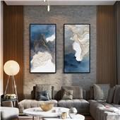 虔诚--快乐鱼现代简约新中式客厅沙发背景餐厅墙面装饰画