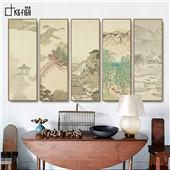 近江八景--客厅餐厅玄关现代经典装饰艺术画山水多联新中式风格