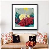 戴红研--油画--现代简约名人名家装饰画客厅餐厅卧室书房装饰挂画