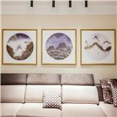 城市经典--新中式抽象装饰画客厅书房禅意装饰画玄关阳台