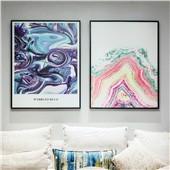 厚雅空间--现代北欧简约客厅沙发卧室背景墙色彩温馨舒缓减压装饰画