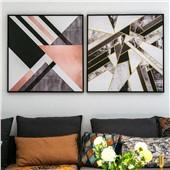漫北欧--现代北欧简约客厅沙发卧室背景墙色彩温馨舒缓减压装饰画