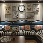 格兰小镇-经典美式客厅沙发卧室背景墙色彩温馨舒缓减压装饰画