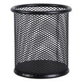 晨光(M&G)文具黑色金属网格圆形笔筒 学生办公通用桌面收纳盒