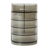 晨光(M&G)文具黑色透明四层时尚笔筒 多功能办公桌面收纳盒