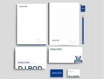 商务用纸、信纸、信封、邀请卡、名片、手拎袋设计定制企业商务套装